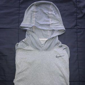 Nike Dri-Fit Long Sleeved Running Shirt with Hood